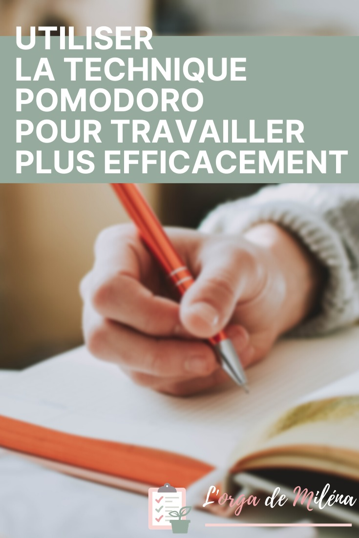 Découvrez la technique Pomodoro pour gagner en efficacité et en productivité au quotidien et finir vos tâches plus rapidement #organisation #productivité #entrepreneuriat #efficacité