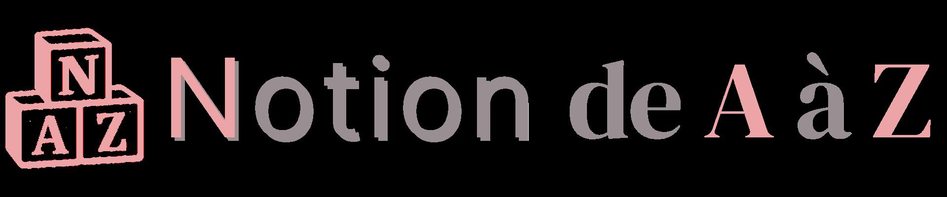 Notion de A à Z - Titre et logo