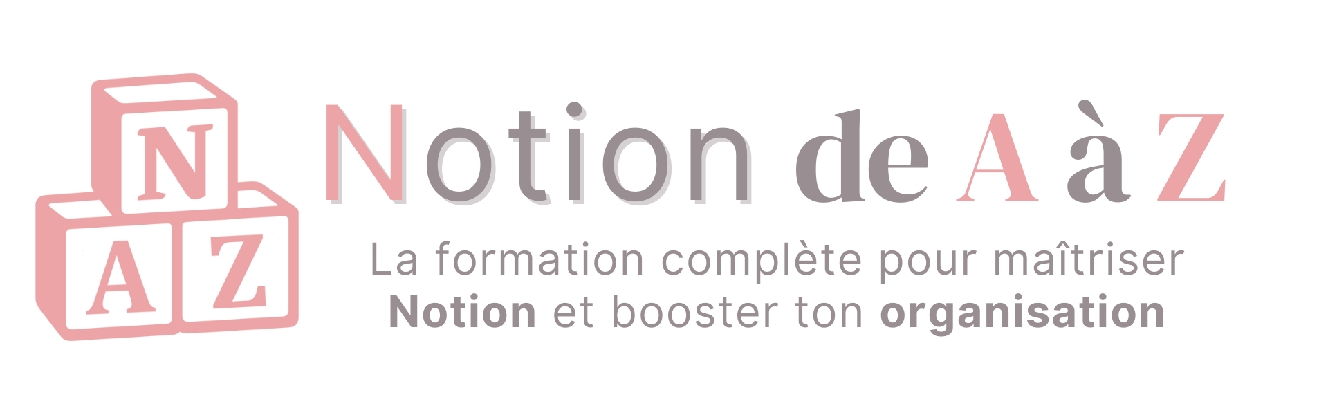 Formation Notion de A à Z - Logo et texte horizontal