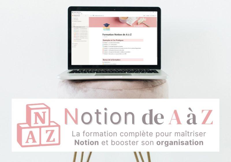 Formation Notion de A à Z - Maitriser Notion pour booster votre organisation